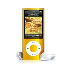 Apple iPod Nano 5th Generation Digital MP3 Player / Radio Yellow 8GB Refurbished